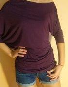Fioletowa bluzeczka na jedno ramie 36 38
