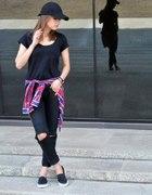 BLACK SLIP ON DIY PANTS...