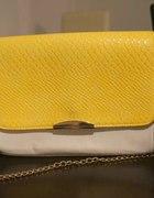 Piękna żółto biała torebka MOHITO złoty łancuch