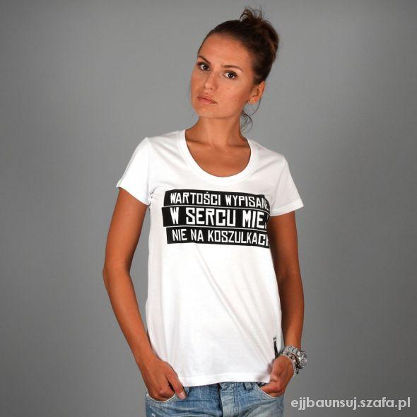 t shirt PROSTO wartości wypisane w sercu miej...