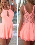 Różowe sukienko spodenki