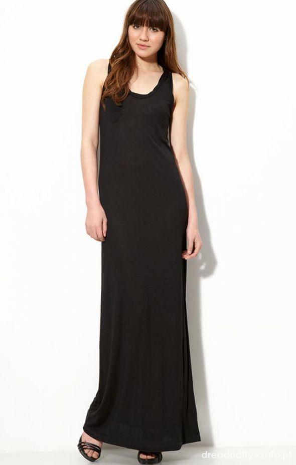 Czarna maxi sukienka