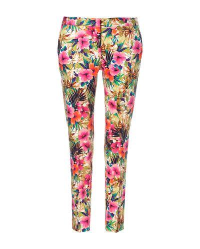 ZARA spodnie kwiaty floral