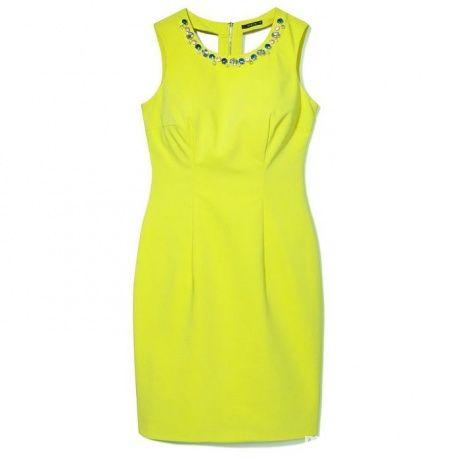 sukienka limonkowa Mohito