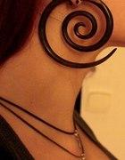 Duże drewniane spirale