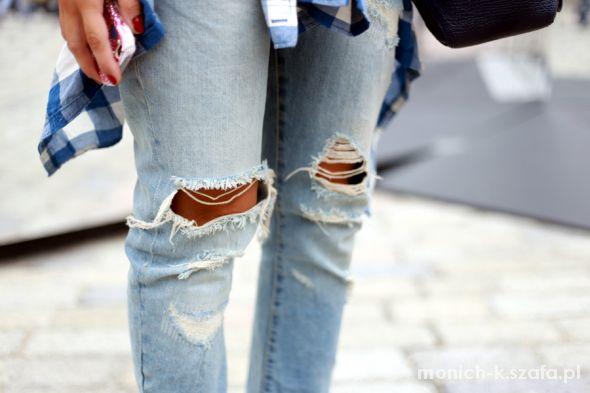 spodnie ripped dziury na kolanach