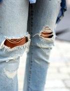 spodnie ripped dziury na kolanach...