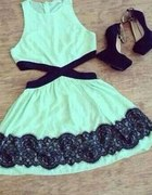 Miętowa sukienkieneczka