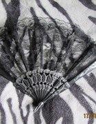 koronkowy wachlarzyk lolita gothic style