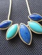 Naszyjnik z turkusami i lapis lazuli