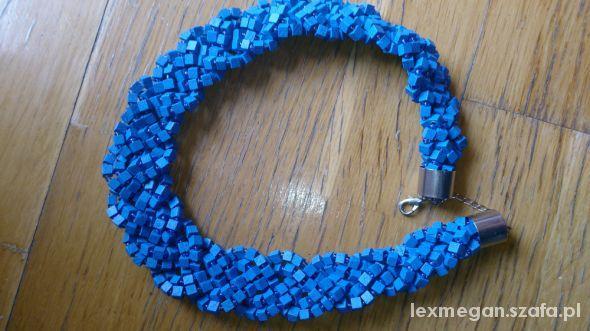 bransoletka niebieska granatowa kobaltowa...