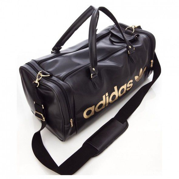 torba sportowa adidas ze złotymi elementami