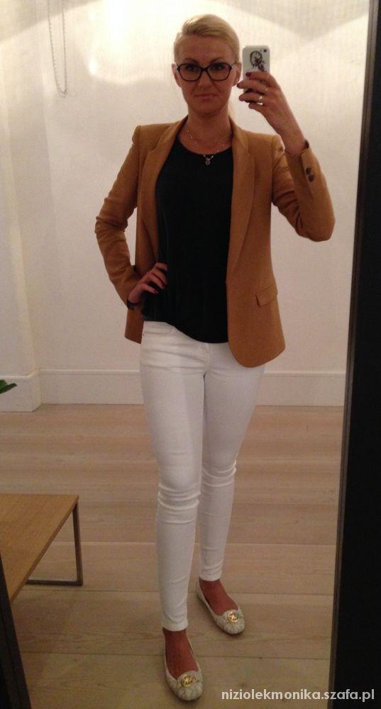 Do pracy biale spodnie