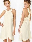 sukienka odkryte plecy i ramiona CUDOWNA jasny beż