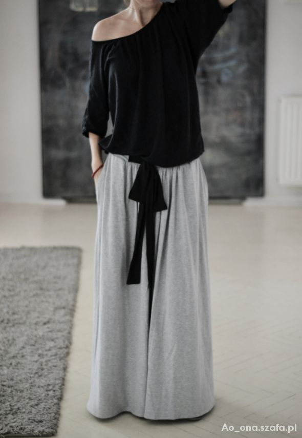 Eleganckie dresowa spódnica maxi