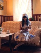 Classic Lolita Spódnica i Headdress...
