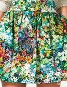 zara spódnica floral łączka