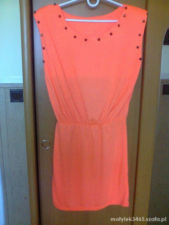 Sukienka Tunika Neonowa Kolce