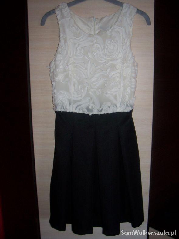 684fd1cebe Sukienka HM 36 S biało czarna Chrzciny Elegancka w Suknie i sukienki ...