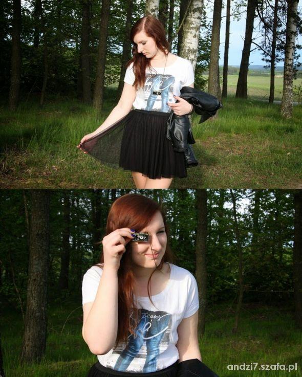 Blogerek Tiulowa spódnica i tshirt