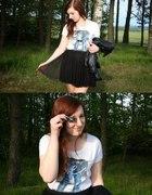 Tiulowa spódnica i tshirt