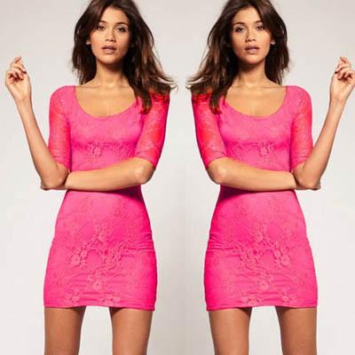 ae873ef391 Koronkowa Sukienka Różowa Mega Sexi Sukienki NOWA w Suknie i ...