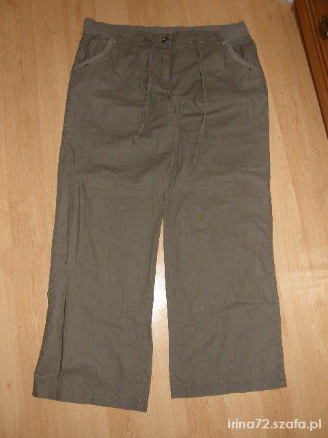 TU lniane spodnie dla puszystej 46 48 50