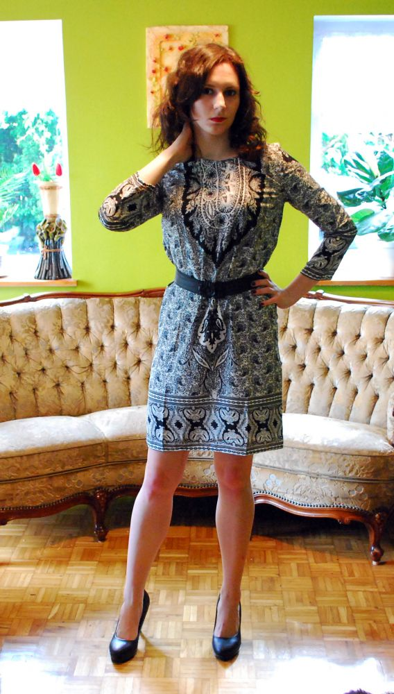 Codzienna sukienka w tureckie wzory