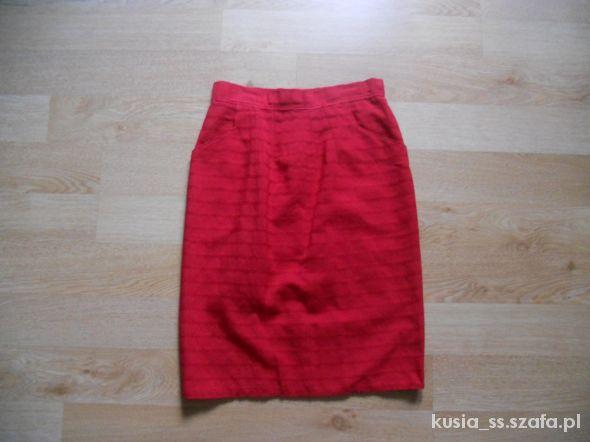 Spódnice Czerwona spódnicza spódnica ołówkowa