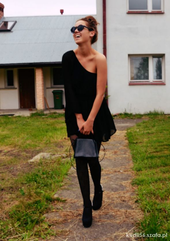 Blogerek Asymetryczna sukienka