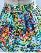 Rozkloszowana spódnica w kwiaty floral ZARA zip...