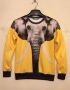Bananowa bluza Elephant 3D