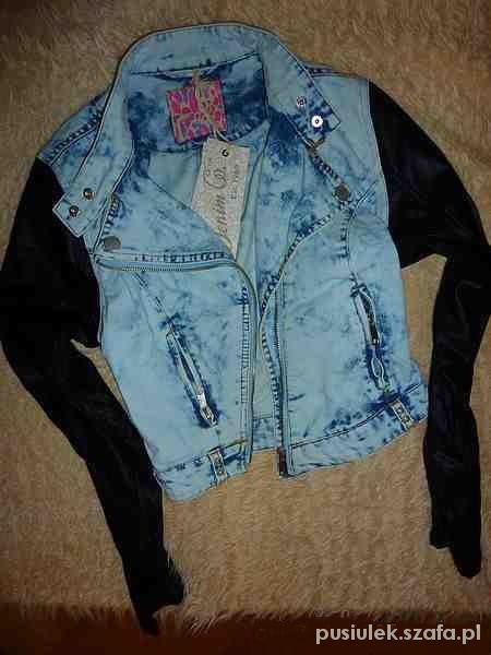 Ramoneska jeans marmurkowa skóra...
