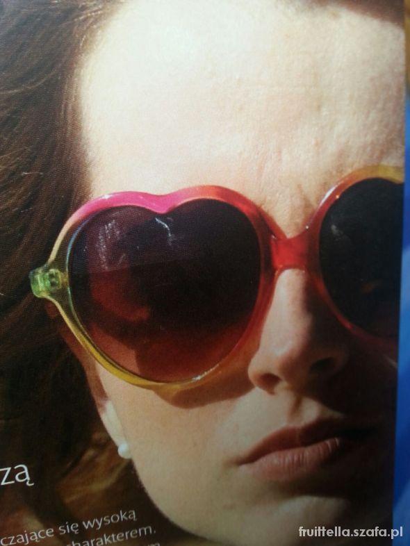 okulary serca kolorowe