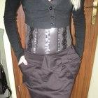 czarna spódnica z kokardką