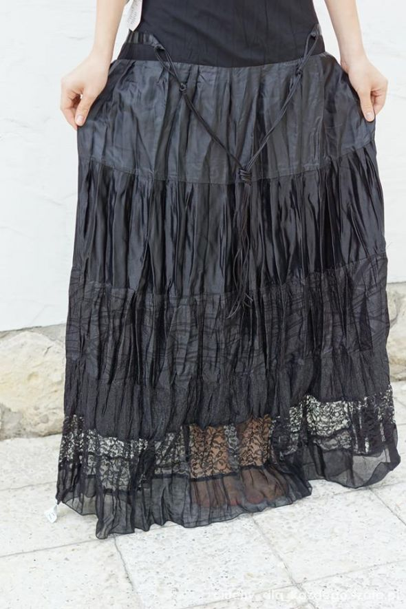 Spódnice Spódnica czarna koronka gotycka