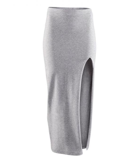 sukienka maxi h&M szara melanż xs s