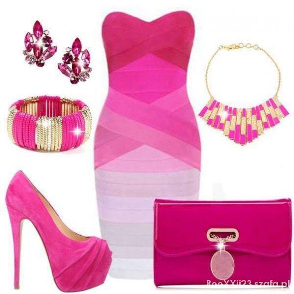 Różowo