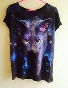 KOTY Bluzka z realistycznym nadrukiem kota...