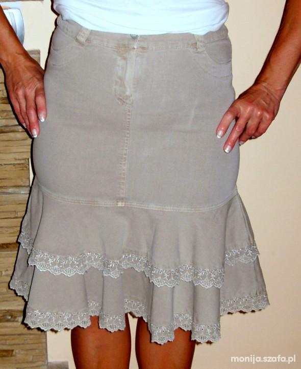 Spódnice spódnica beżowa