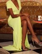 cytrynowa suknia