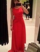 bershka maxi red dress...