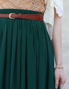 Krótka zielona plisowana