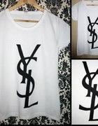 YSL koszulka ręcznie malowana