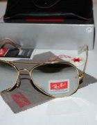 Okulary Ray Ban złote