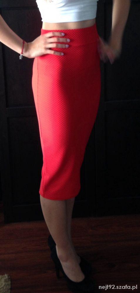 Spódnice Czerwona ołówkowa spódnica River Island