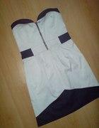Marynarska sukienka S