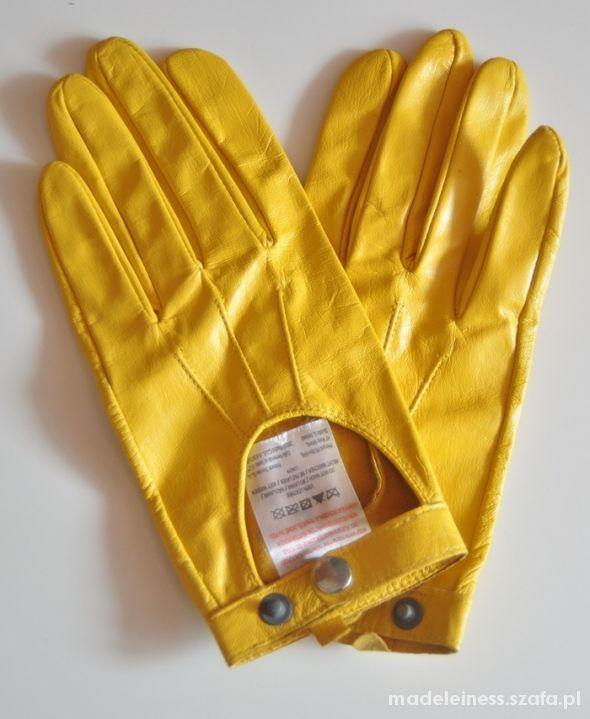 8d0e067e58f041 Piękne żółte rękawiczki Atmosphere w Rękawiczki - Szafa.pl
