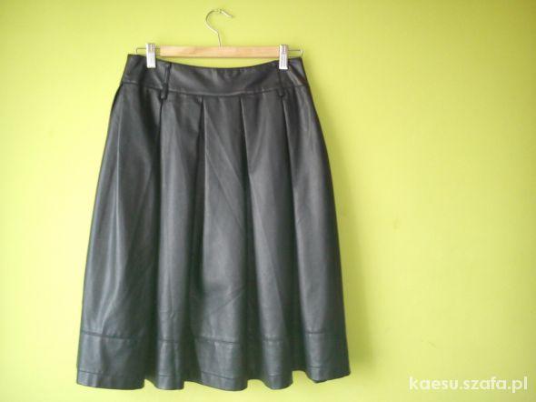 Spódnice spódnica eko skóra plisowana rozkloszowana