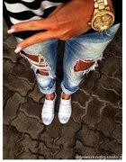 Rurki jeans DZIURY